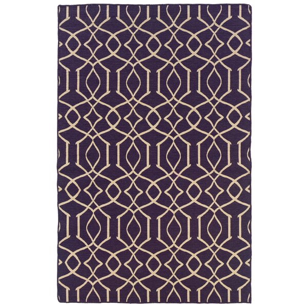 Blue Mountain Hand-Tufted Purple/Natural Area Rug by Darby Home Co