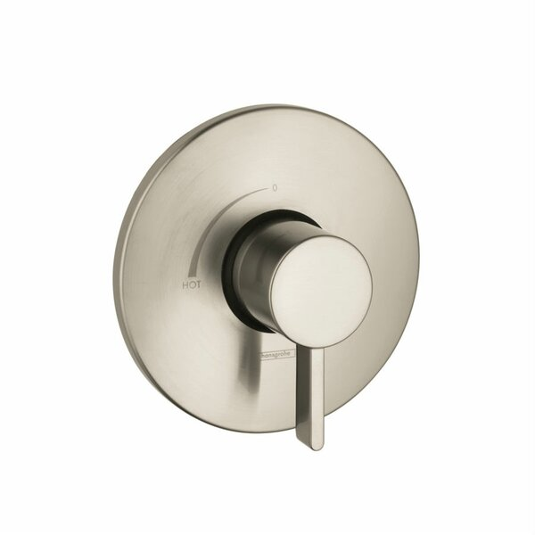 Pressure Balance Volume Control Faucet Trim Only with Lever Handle by Hansgrohe