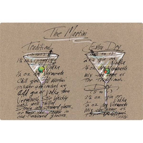 5 x 7 Martini Design Cutting Board by Magic Slice