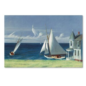 'The Lee Shore' Print on Wrapped Canvas by Trademark Fine Art