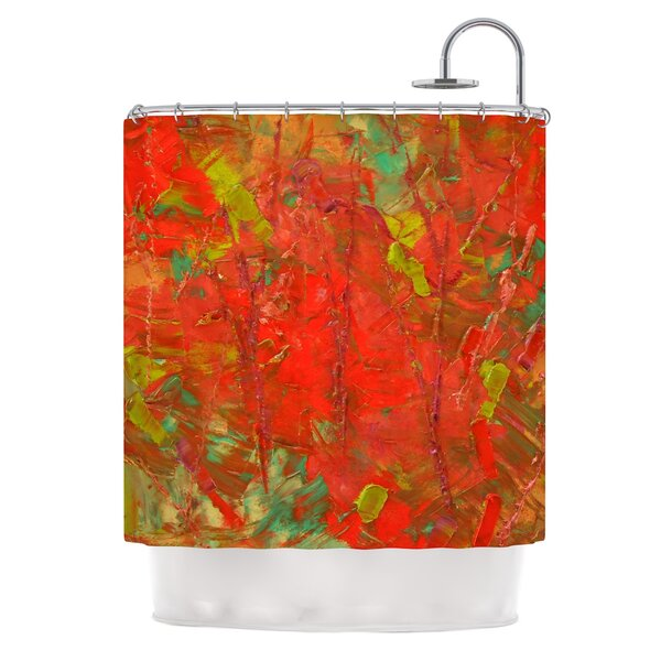 Crimson Forest by Jeff Ferst Shower Curtain by East Urban Home
