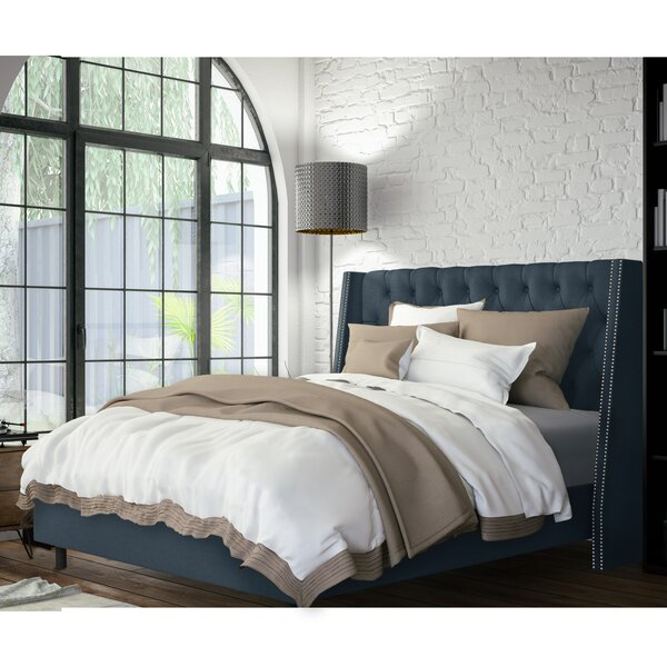 Nelya Upholstered Standard Bed Charlton Home W002088637