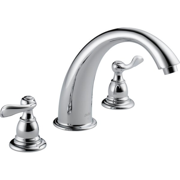 Windemere Double Handle Deck Mount Roman Tub Faucet Trim by Delta