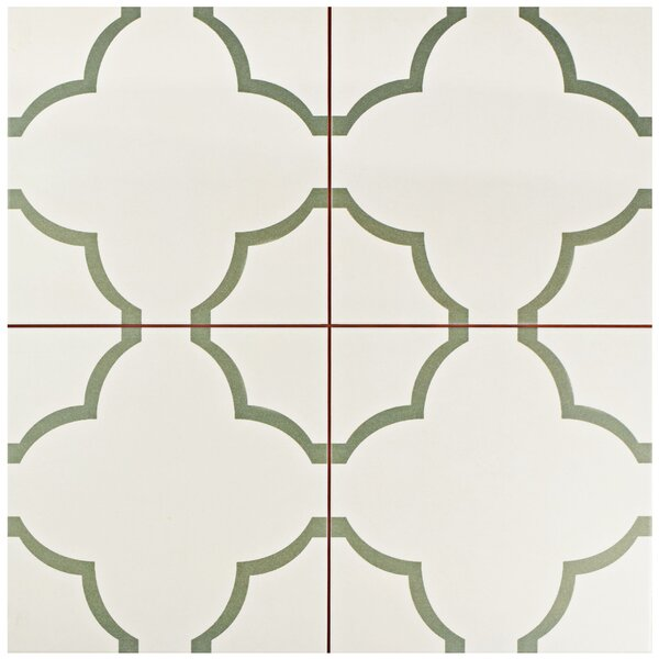 Cumulus 17.63 x 17.63 Ceramic Field Tile in Cream/Olive by EliteTile
