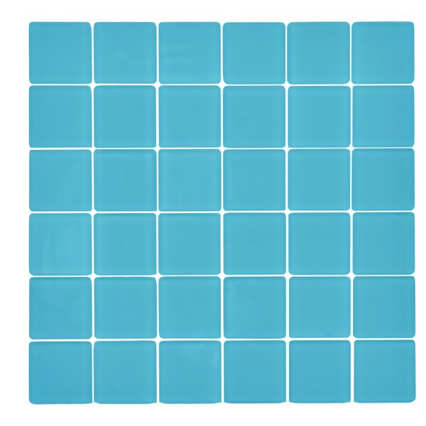 Traditional Glass 2 x 2 Mosaic Tile in Bermuda Blue by Kellani