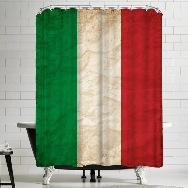Wonderful Dream Italy Flag Shower Curtain by East Urban Home