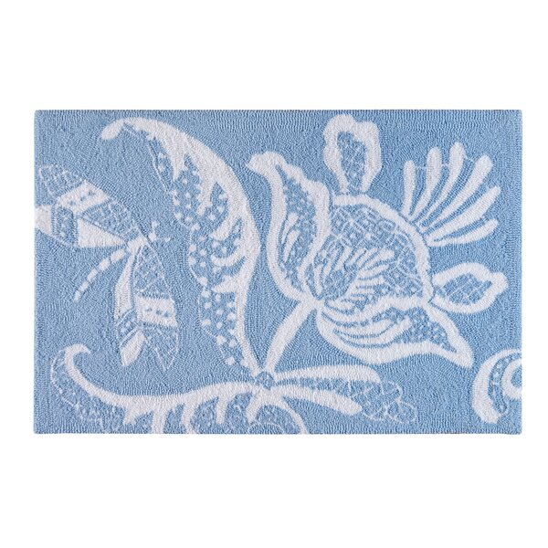 Eliza Lace Blue Area Rug by C&F Home
