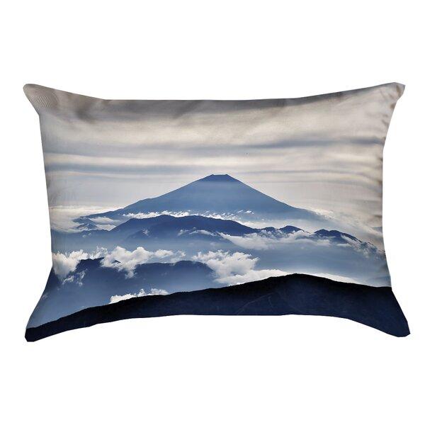 'Hashimoto A View of Mt. Fuji Indoor/Outdoor Lumbar Pillow