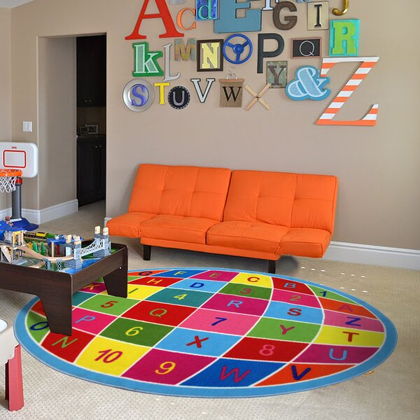 Fun Time Alpha Numeric Globe Area Rug by Fun Rugs