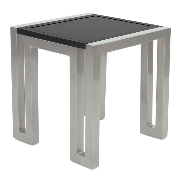 Icon Aluminum Side Table by Leona