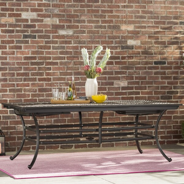 Palmview Metal Dining Table by Fleur De Lis Living