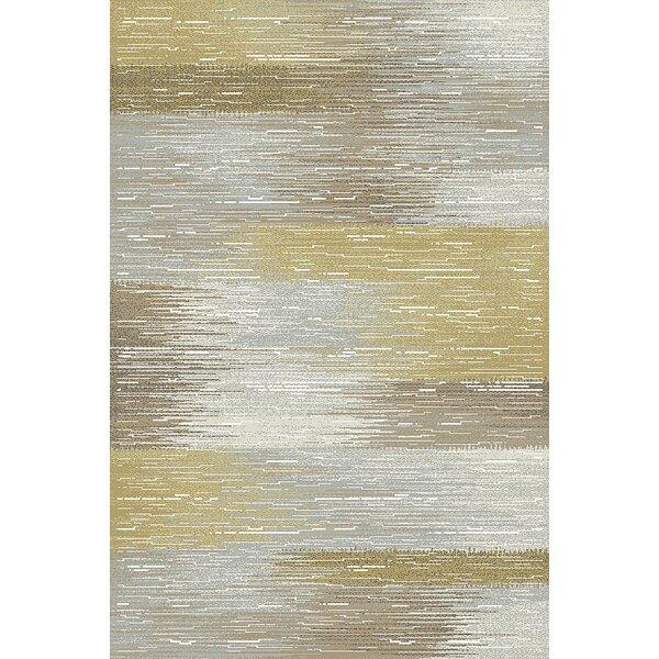 Albury Gray & Yellow Area Rug by Wrought Studio