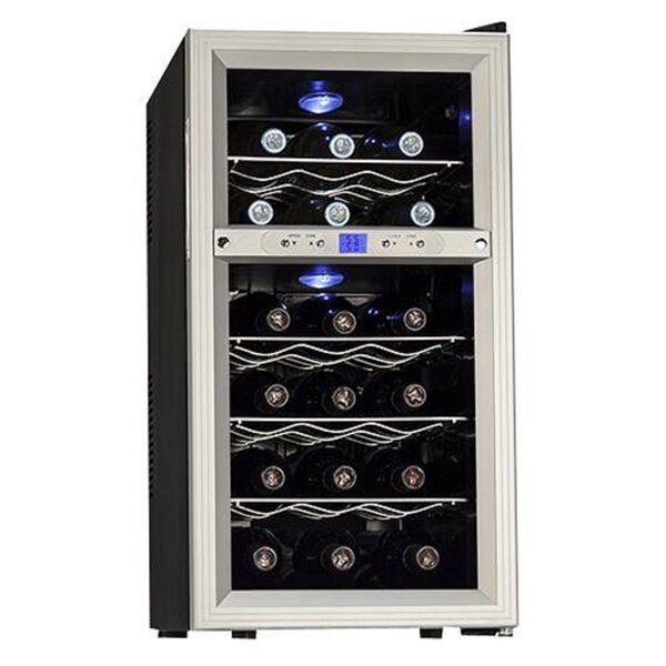 18 Bottle Dual Zone Freestanding Wine Refrigerator By Koldfront