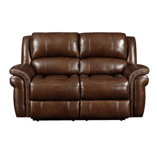 Mowbray Genuine Leather Reclining Loveseat