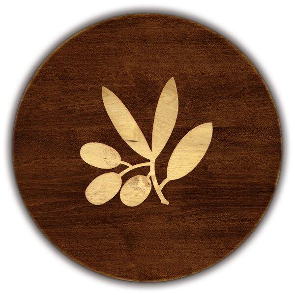 Artisan Woods Olive Branch Round Serving Platter by Martins Homewares