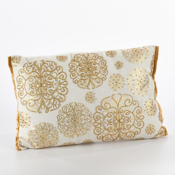 Edson Ivory Cotton Breakfast Pillow by Rosdorf Park