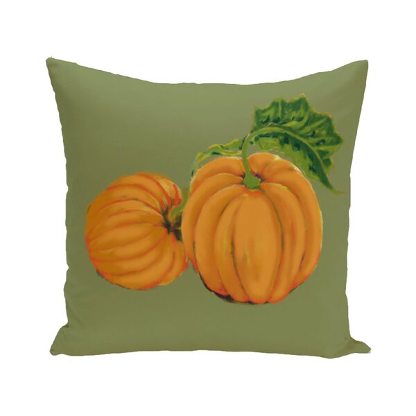 Pinero Pumpkin Patch Holiday Print Floor Throw Pillow by August Grove