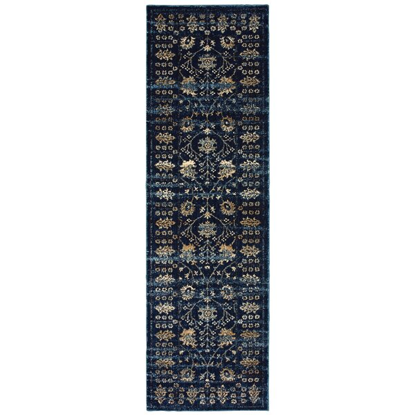 Quenby Navy/Ivory Area Rug by Bloomsbury Market