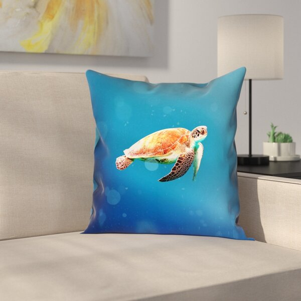 Sea Turtle Pillow Cover by East Urban Home