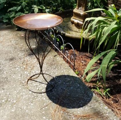 Handmade Stand Birdbath by Starlite Garden and Patio Torche Co.