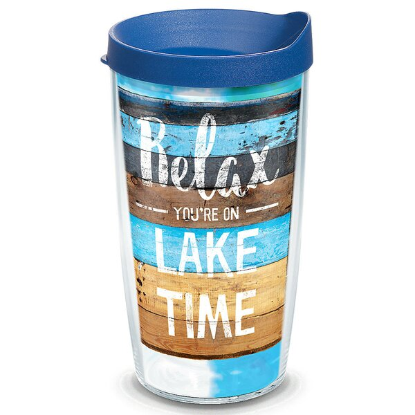 Sun and Surf Relax Lake Time Plastic Travel Tumbler by Tervis Tumbler