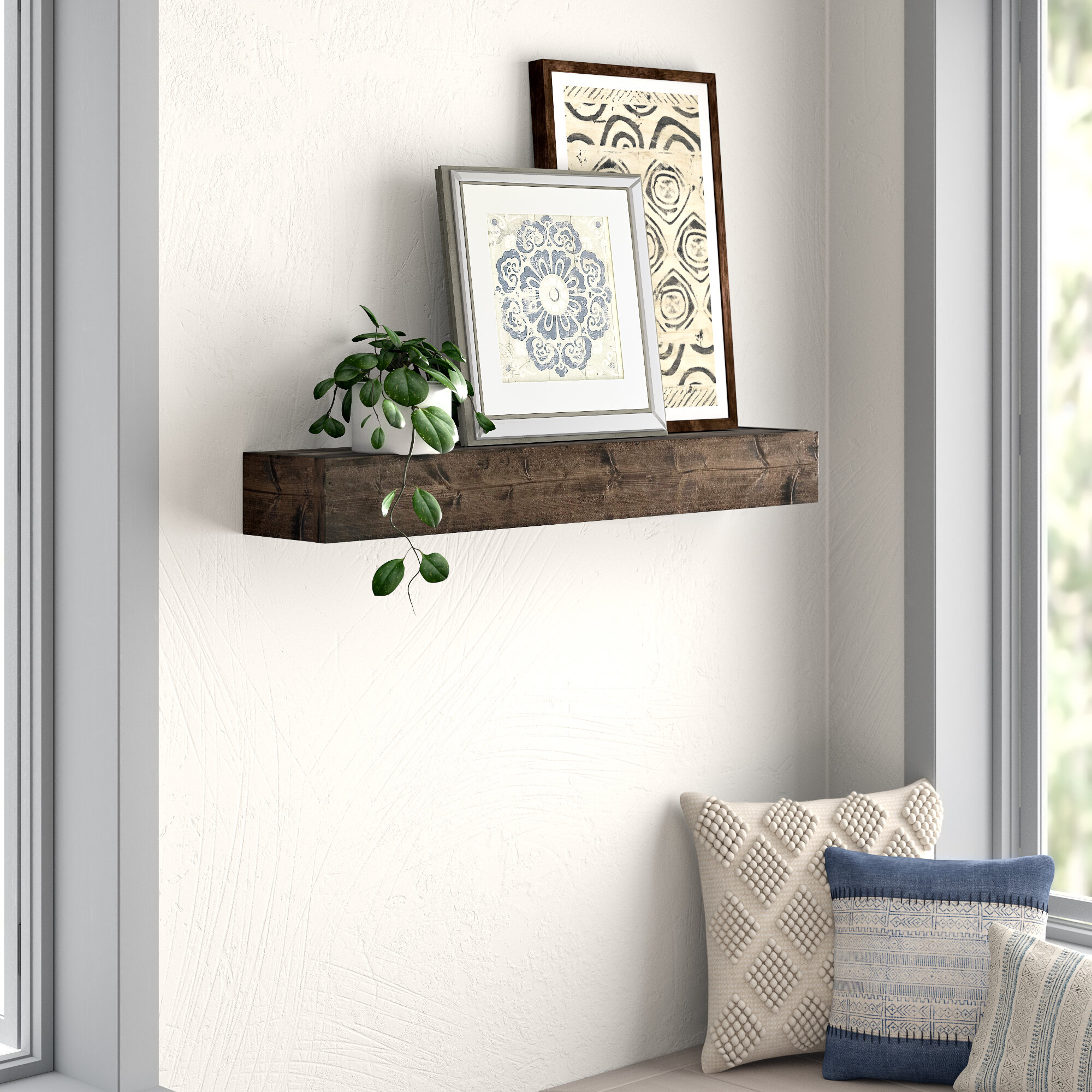 best authentic 6309e 7e755 Kaydence Wood Floating Shelf