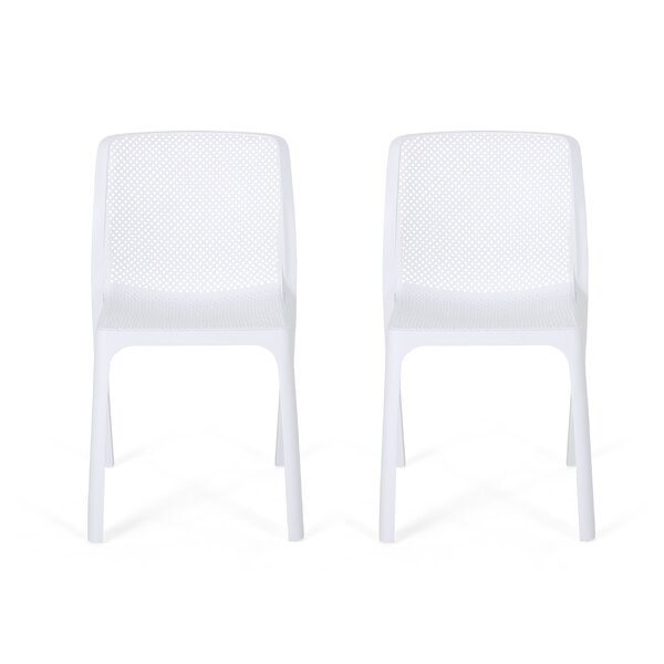 Emrich Outdoor Stacking Patio Dining Chair (Set Of 2) By Orren Ellis by Orren Ellis Purchase