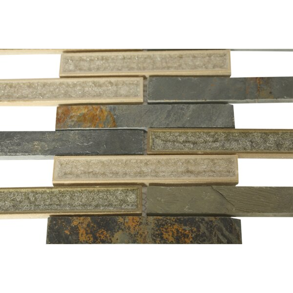 Roman Selection 1 x 6 Mixed Material Mosaic Tile in Brown by Splashback Tile