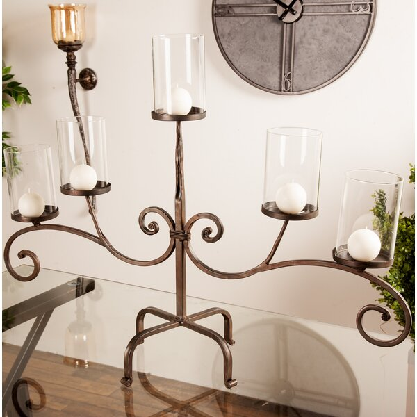 Traditional Metal Candelabra by Fleur De Lis Living