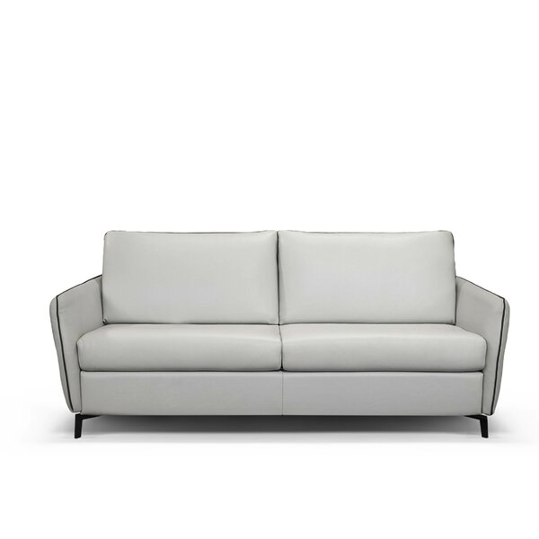Monreal Leather Sofa Bed by Latitude Run