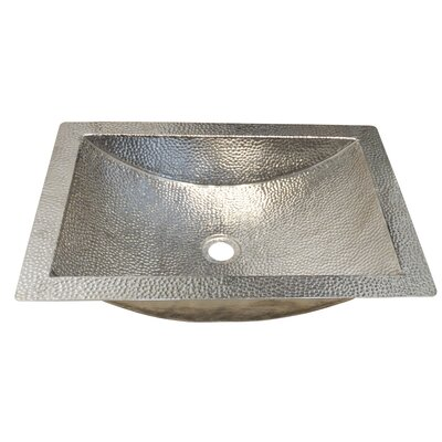 Native Trails Undermount Sink Metal Rectangular Polished Nickel Bathroom Sinks