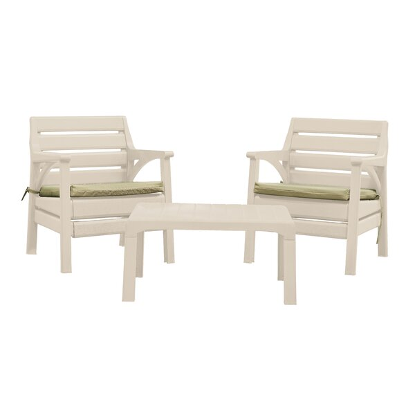 Kogut Premium Weather Resistant 3 Piece Seating Group With Cushions By Latitude Run