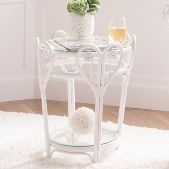 Rosana Glass Top End Table With Storage By Mistana