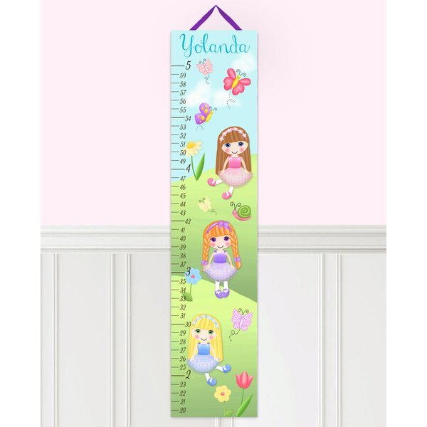Dolls In The Garden Personalized Canvas Growth Chart by Toad and Lily