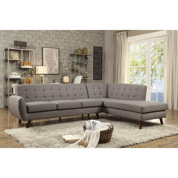 High-quality Biddle Right Hand Facing Modular Sectional by George Oliver by George Oliver