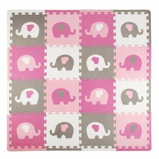 Compare Elephants with Hearts 16 Piece Floor Mat ByTadpoles