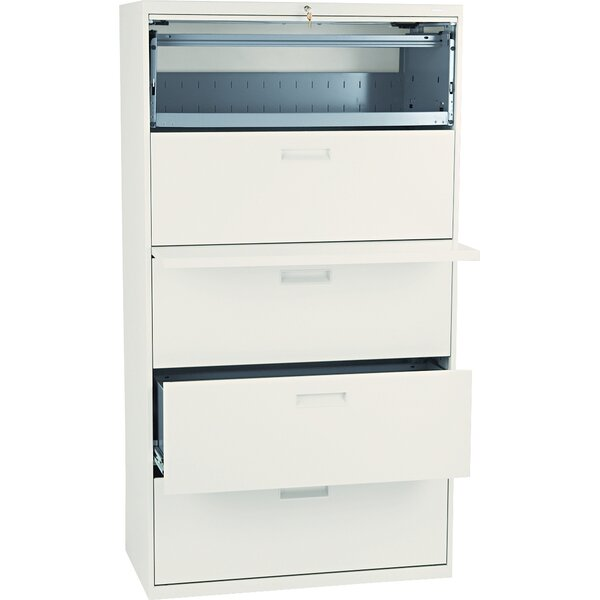 500 Series 5-Drawer Mobile Vertical Filing Cabinet by HON