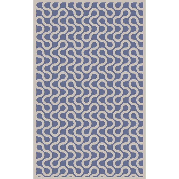 Native Hand Woven Wool Cobalt/Ivory Area Rug by Aimee Wilder Designs