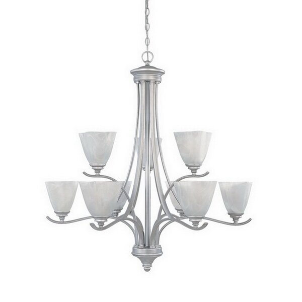 Holm 9 - Light Shaded Tiered Chandelier by Charlton Home Charlton Home