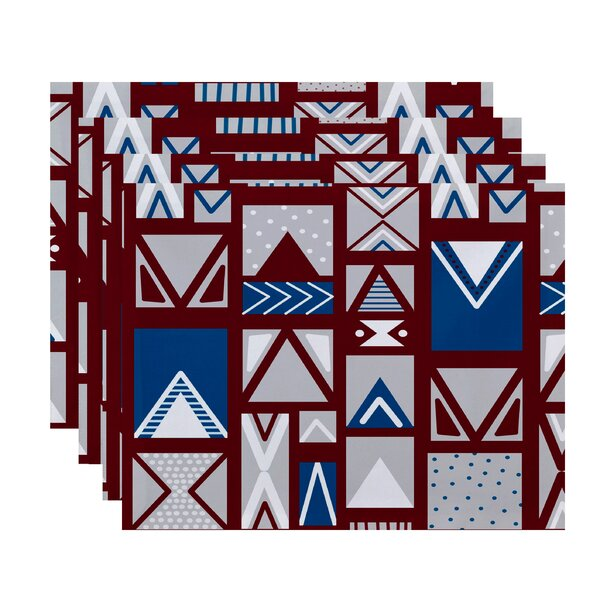 Christmass Geometric Print Placemat (Set of 4) by The Holiday Aisle