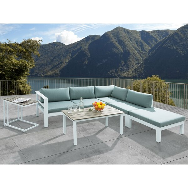 Somerset 4 Piece Sectional Set with Cushions by Brayden Studio