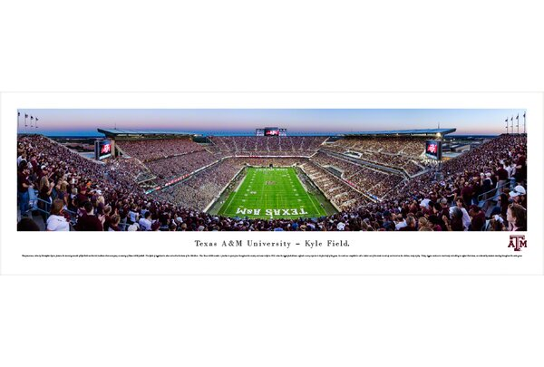 NCAA Texas A&M University - End Zone by Christopher Gjevre Photographic Print by Blakeway Worldwide Panoramas, Inc