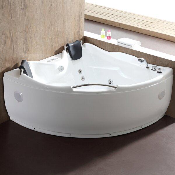 59.5 x 59.5 Corner Whirlpool Bathtub by EAGO