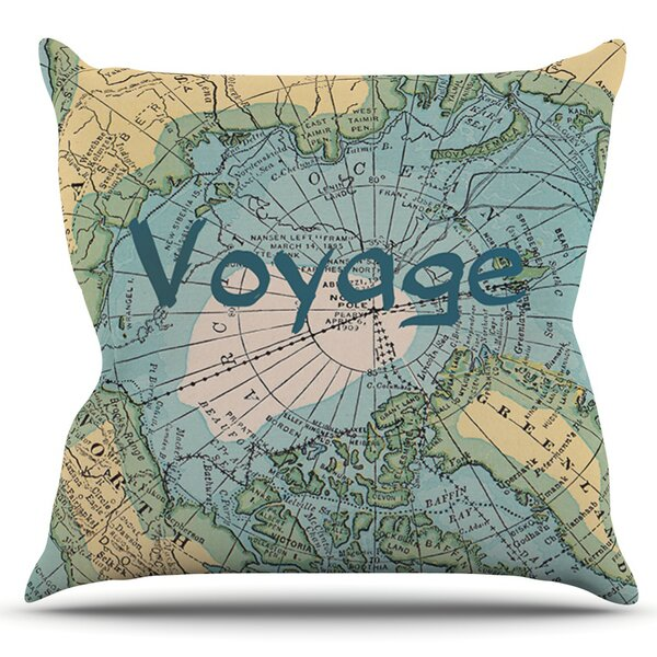 Voyage by Catherine Holcombe Outdoor Throw Pillow by East Urban Home
