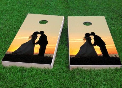 Wedding Waterfront Cornhole Game (Set of 2) by Custom Cornhole Boards