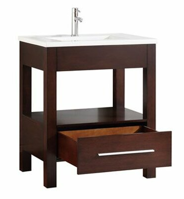 Cowart Vitreous China Top 31 Single Bathroom Vanity Set by Orren Ellis