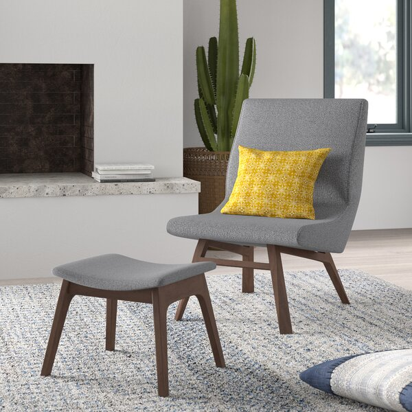 Dario Slipper Chair and Ottoman by Mistana