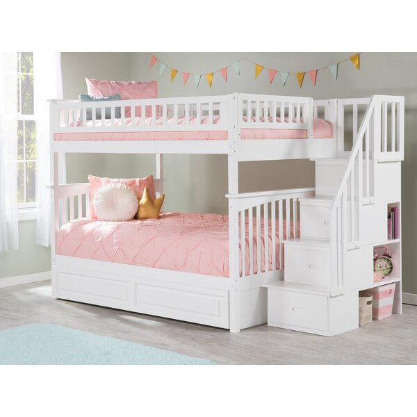 Abel Full Over Full Bunk Bed with Trundle by Harriet Bee