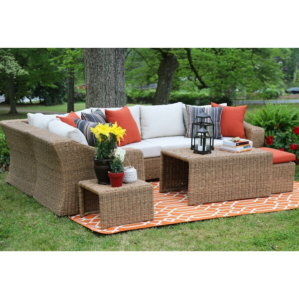 Arizona 4 Piece Rattan Sectional Seating Group by AE Outdoor