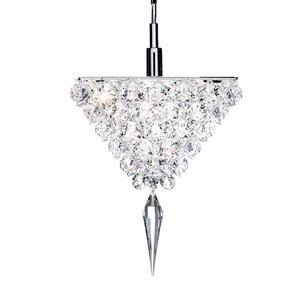 Vertex 1-Light Crystal Pendant by Schonbek
